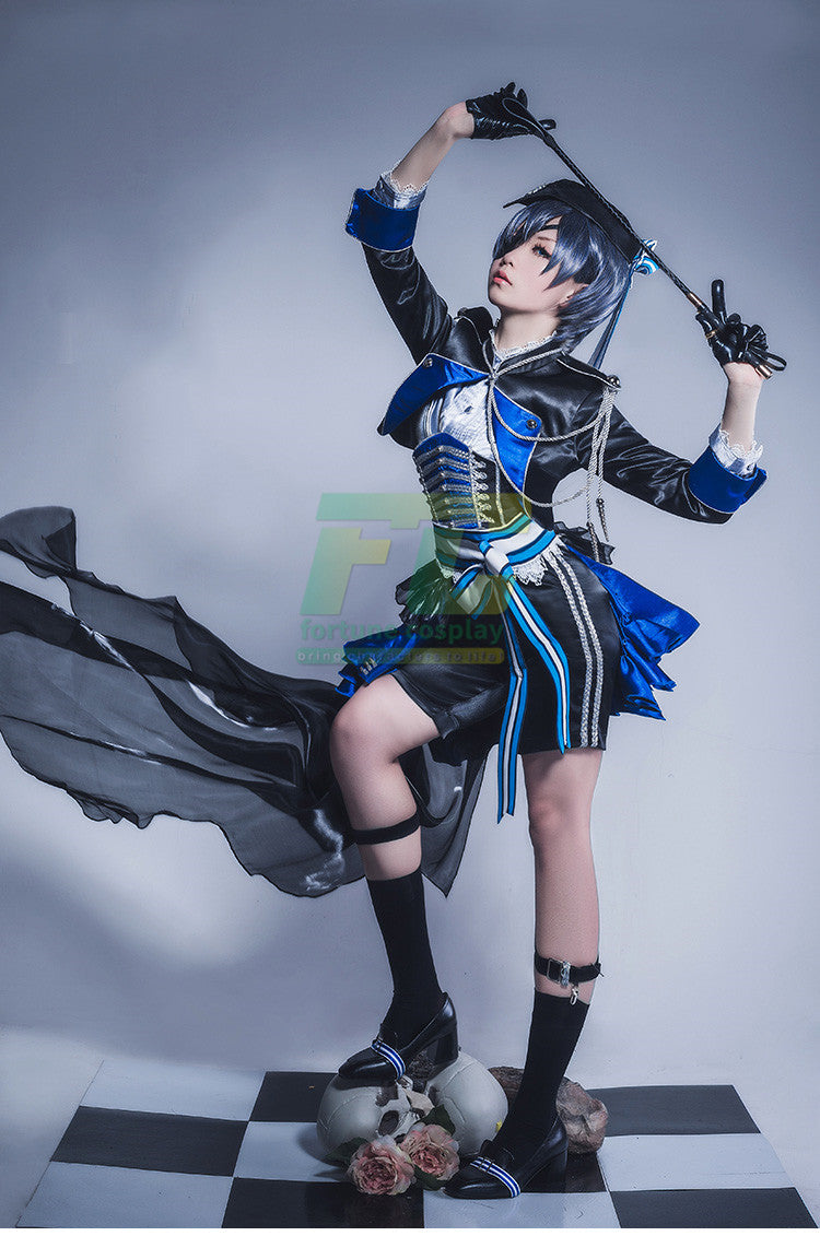 Free Shipping Black Butler Kuroshitsuji Ciel Aniplex Garage Kit full set cosplay costume