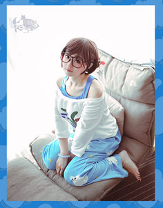 Overwatch Mei Rise and Shine Cosplay Costume Pajama - fortunecosplay