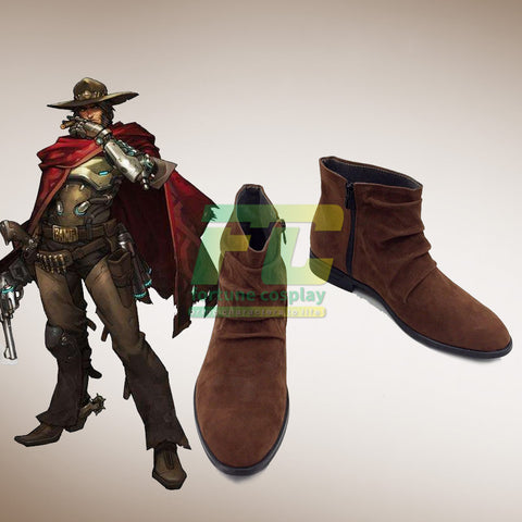 Overwatch OW Mccree cosplay shoes boots