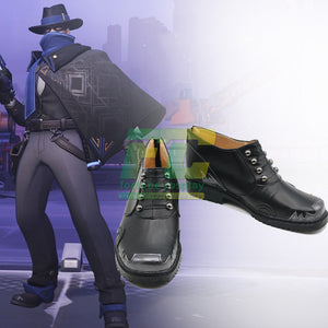 Overwatch OW McCree Skin Mystery Man cosplay boots shoes - fortunecosplay