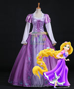 Load image into Gallery viewer, Tangled Rapunzel Princess Dress Halloween Cosplay Costume - fortunecosplay