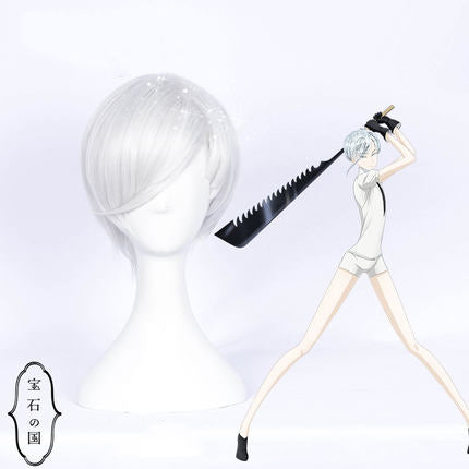 Land of the Lustrous Houseki no Kuni Antarcticite Cosplay Full Wigs