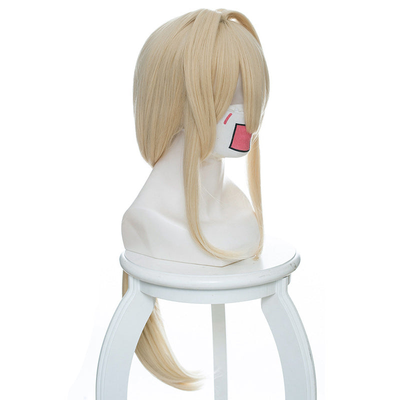 Violet Evergarden Blonde Long Synthetic Hairstyled Cosplay Wigs 2