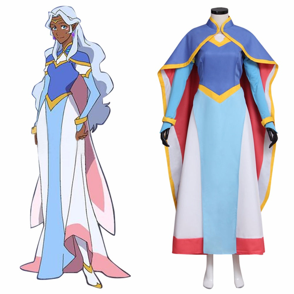Voltron Defender of the Universe Legendary Defender Princess Allura Cosplay Costume Dress