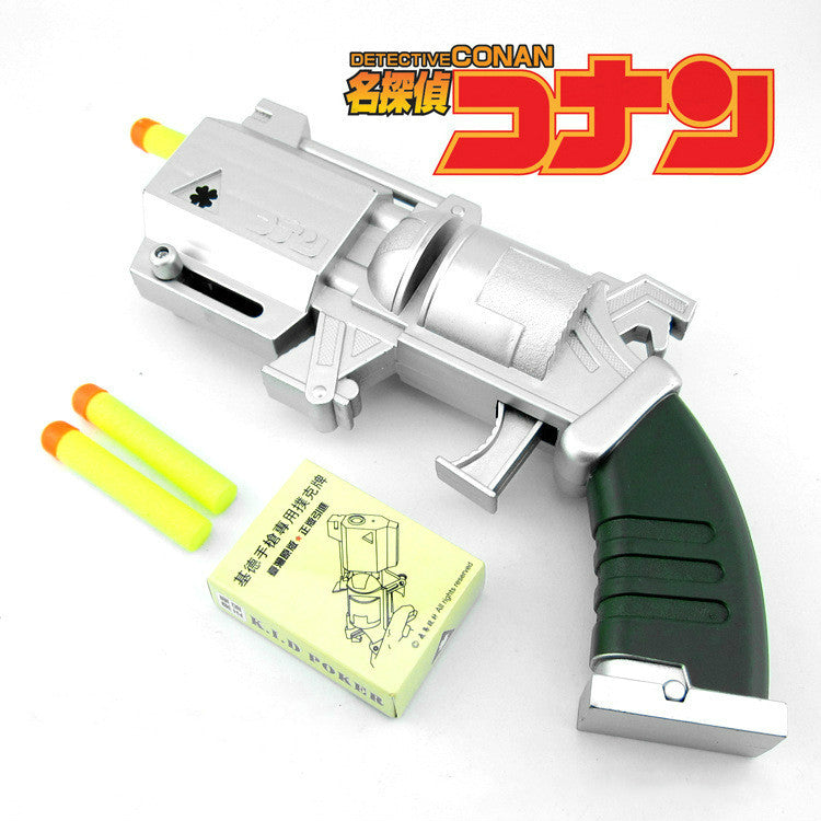 Detective Conan Thief Kid the Phantom Kuroba Kaito Cosplay Weapons Gun with Cards