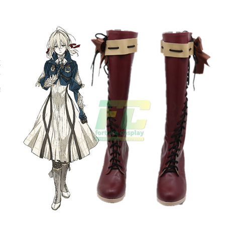 Violet Evergarden Cosplay Shoes Boots Custom Made