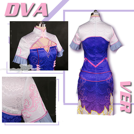OW DVA Chinese cheongsam cosplay costume stage dress