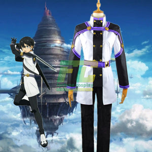 Sword Art Online SAO Movie: Ordinal Scale Kazuto Kirigaya Kirito Cosplay Costume