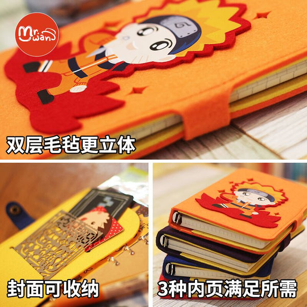 Naruto anime series anime A6 notebook diary loose leaf notebook stationery
