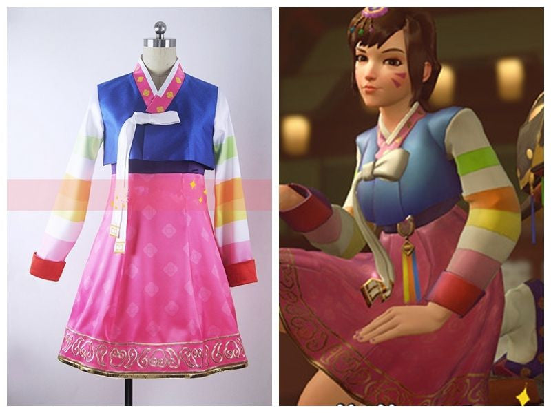 Overwatch D.Va New Year Traditional Korean Cosplay Costume
