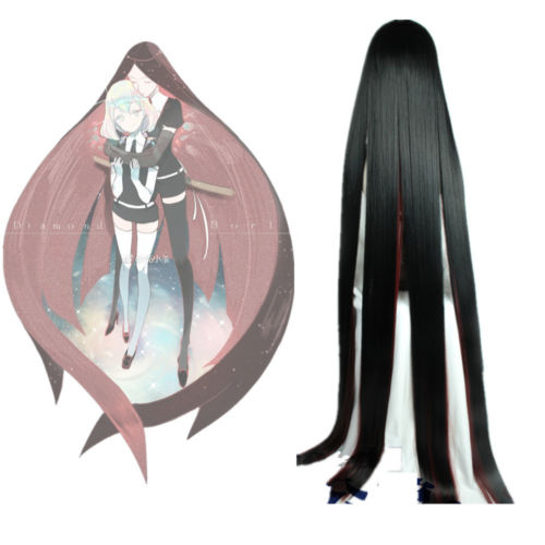Land of the Lustrous Houseki no Kuni Bort Black Wine Straight Cosplay Wig 59'' - fortunecosplay