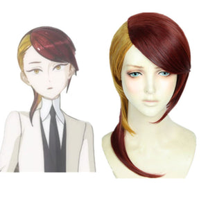 Land of the Lustrous Houseki no Kuni Rutile Blond Wine Mix Cosplay Full Wigs