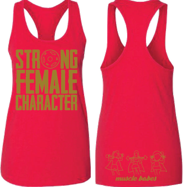 Strong Female Character Racerback Tank
