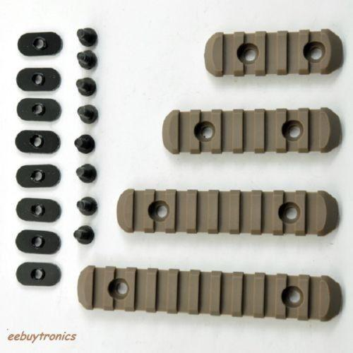 Advanced Tactical Polymer RAIL Sections for Hand Guards Dark Earth Rifle Rails Unbranded