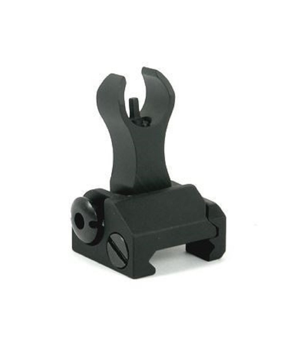 AR15 Iron Sights A2 Front & Rear Flip Up Backup Iron Battle Sights Set sights Green Blob Outdoors