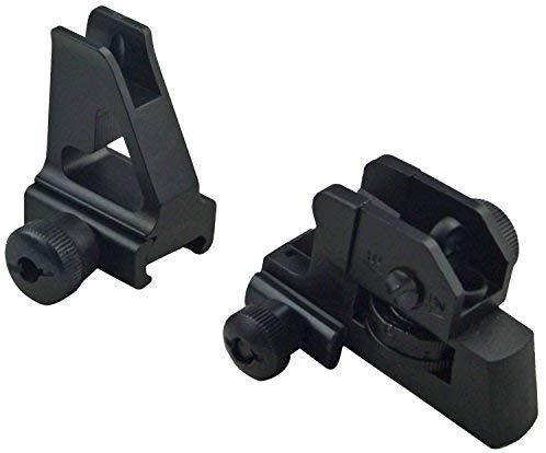 AR15 Iron Sights Match Grade Model 4/15 Rear & High Profile Front Sight for Lower Gas Block Sights GBO
