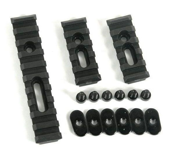 Black Slotted Polymer Picatinny Rail Set for Handguards Rail Sets Green Blob Outdoors