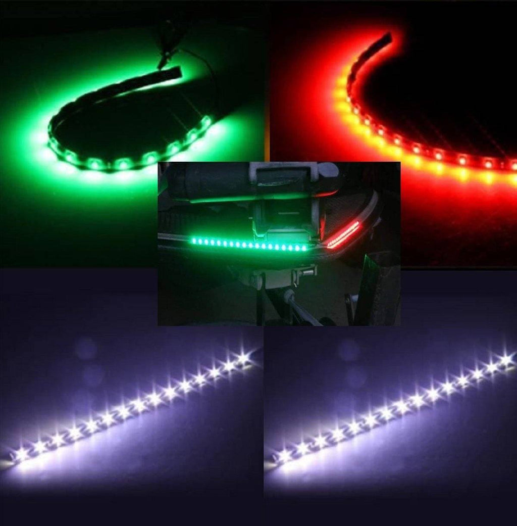 Boat Bow LED Navigation (STERN & BOW) Light Kit, Red, Green, and White Strips for Bass boats, Waterproof Boat Lights Green Blob Outdoors