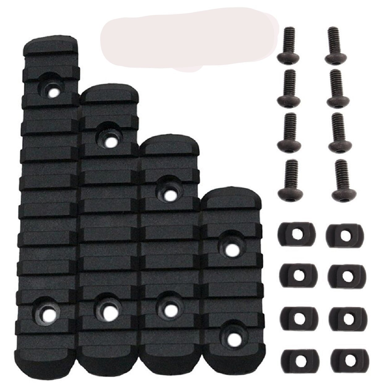 Camming T-Nuts Rails Polymer Rail Sections 5,7,9,11 Slots, L2, L3, L4, L5 Picatinny Rail Sizes, Heavy Duty Polymer Picatinny/Weaver Rails Scope Mounts & Accessories Green Blob Outdoors