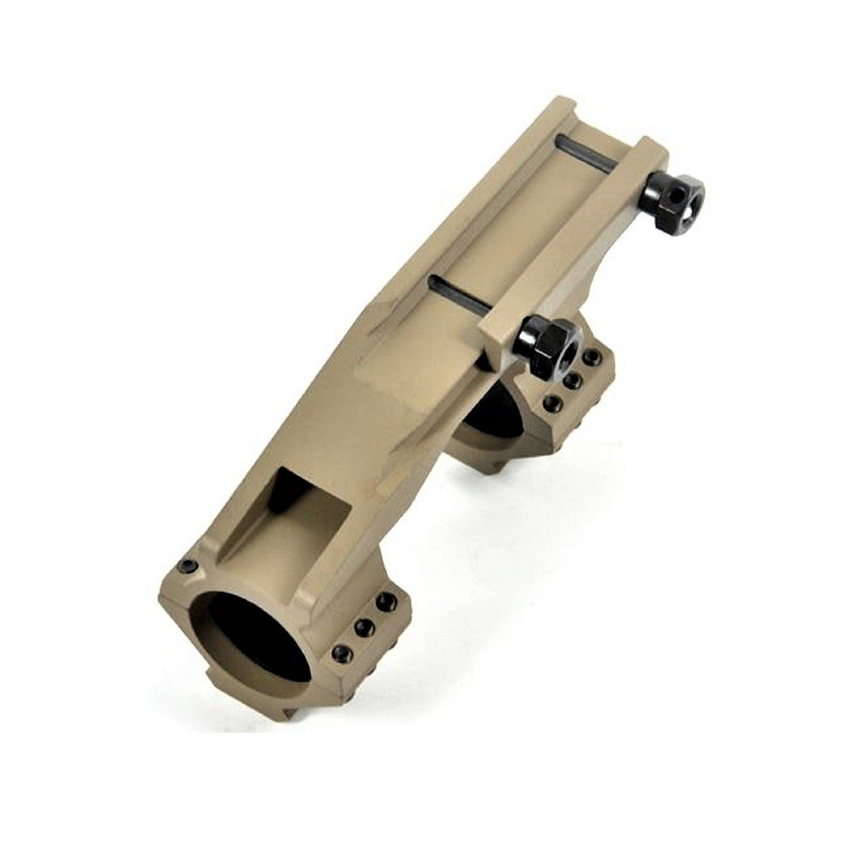 "Dark Earth Cantilever Dual Ring Scope Mount 30mm with 1"" Removable Inserts Scope Mounts Green Blob Outdoors"