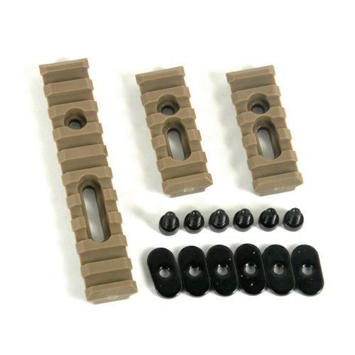 Dark Earth Slotted Polymer Picatinny Rail Set for Handguards Rail Sets Green Blob Outdoors