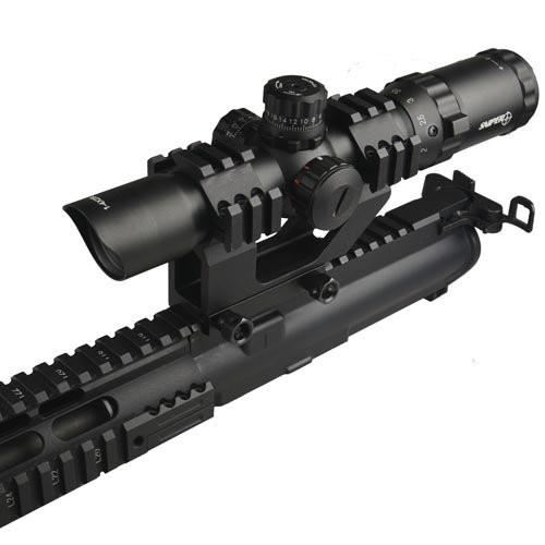 "GBO 30mm - 1"" One Piece Scope Rings Mount with Top and Dual Picatinny Side Rail for Laser and Red Dot Sight Bipods & Monopods Field Sport"