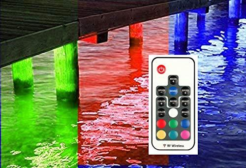 Green Blob Outdoors (Blue, Green, UV, White, or Color Changing) Pimp My Dock LED Lights DIY Premium 15,000 Lumen LED Under Dock Lighting Kit SMD5630 IP68 Completely Waterproof Fishing Lights Green Blob Outdoors Multicolor