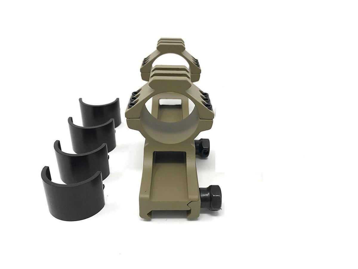 "Green Blob Outdoors (Dark Earth 30 mm with 1"" Inserts) Cantilever Dual Ring Scope Mount DE, FDE, Tan for Nikon, Leupold, Burris Scope Mounts Green Blob Outdoors"
