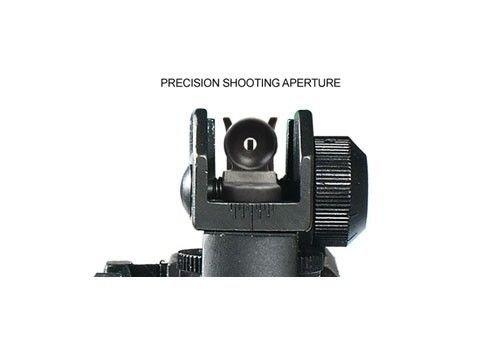 Green Blob Outdoors Match Grade Detachable Rear Sight with Full Range Windage and Elevation Adjustment Sights Green Blob Outdoors
