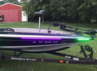 Green Blob Outdoors Pimp My Fishin Boat UV Boat Light kit Ultra Violet Black Light Strips Waterproof for Bass Boat Rub Rails,Pontoon, Night Fishing with Bonus Red & Green LED Navigation Light Strips Pimp My Fishin Boat Green Blob Outdoors