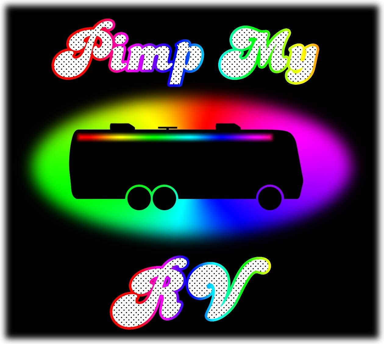 Green Blob Outdoors Pimp My RV DIY Multi-Color RGB Premium 15,000 Lumen LED Awning Lighting Kit SMD5630 IP68 Completely Waterproof RV Motorhome Travel Trailer Camper with mounting Channels RV Light Kits Green Blob Outdoors