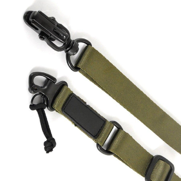 Green Tactical 2 Point Sling Multi Mission Quick Release Tactical Slings Unbranded