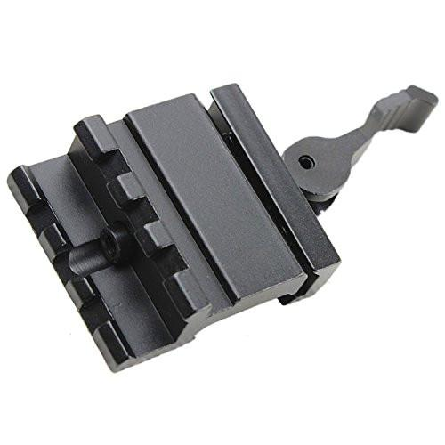LE Rated 3-Slot Single Rail Angle Mount with Integral QD Lever Lock System AR15 Rails Green Blob Outdoors