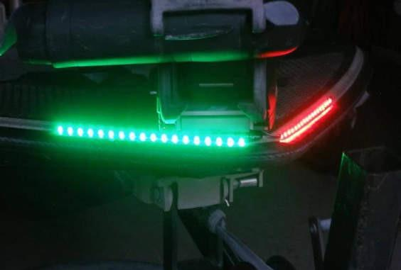 LED Red & Green Navigation Light Strips Set Boat Lights Green Blob Outdoors