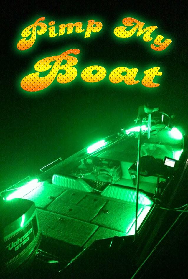 Pimp My Boat (Green) LED Boat Deck Lighting Kit DIY with Red & Green Navigation lights Pimp my Boat Green Blob Outdoors