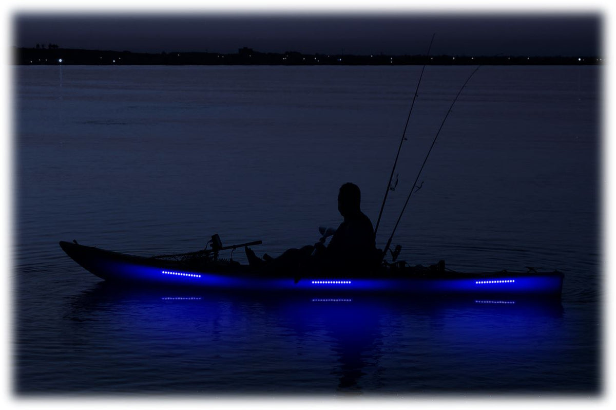 Pimp My Kayak - LED Lighting DIY Kit - 30,000 Lumens - Includes Red & Green Navigation Lights Pimp My Kayak Green Blob Outdoors Blue
