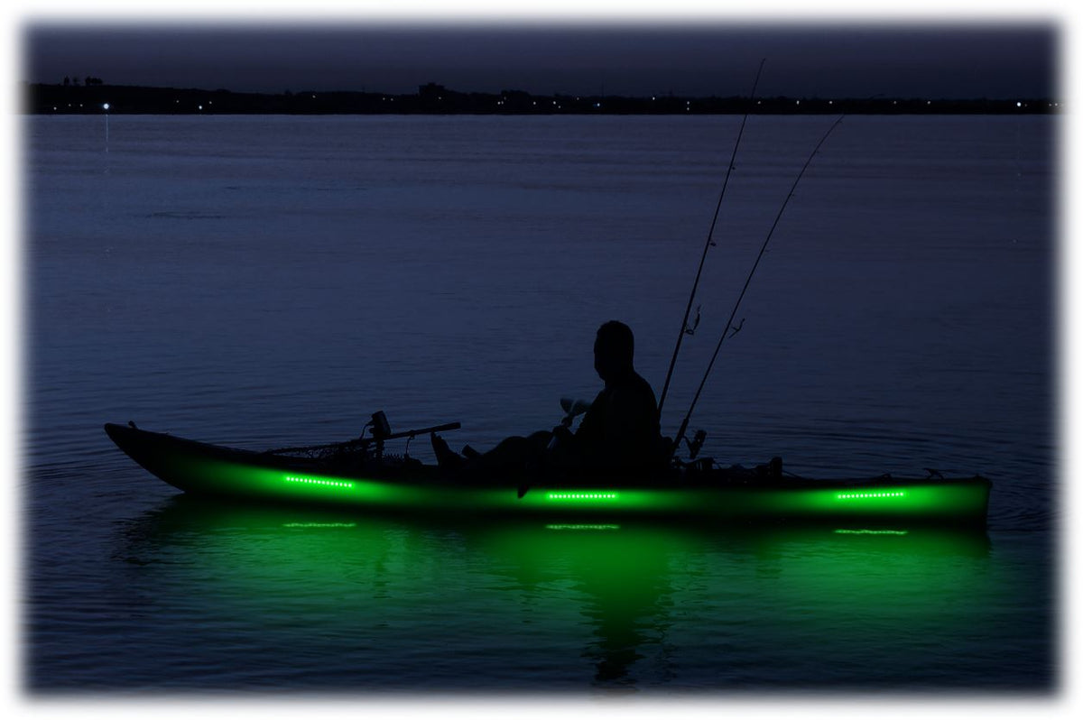 Pimp My Kayak - LED Lighting DIY Kit - 30,000 Lumens - Includes Red & Green Navigation Lights Pimp My Kayak Green Blob Outdoors Green