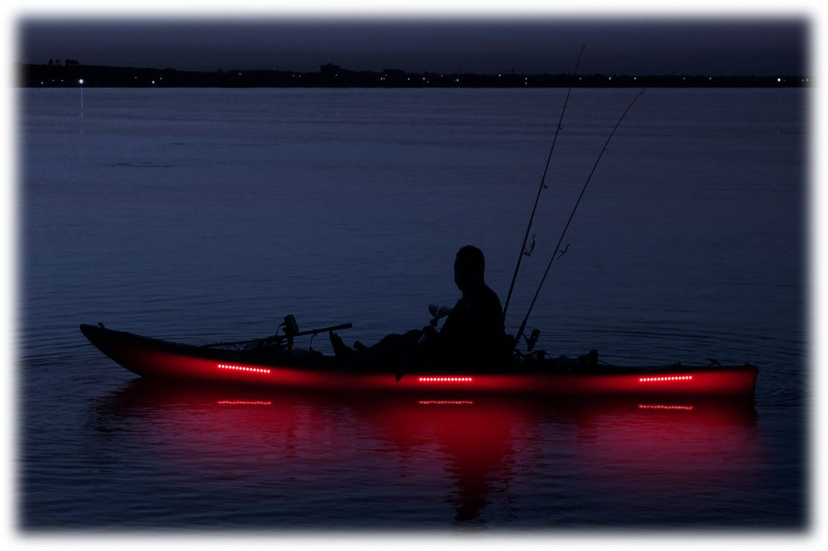 Pimp My Kayak - LED Lighting DIY Kit - 30,000 Lumens - Includes Red & Green Navigation Lights Pimp My Kayak Green Blob Outdoors Red