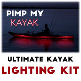Pimp my Kayak - Red LED Lighting DIY Kit - 30,000 Lumens- Includes Red & Green Navigation Lights Pimp my Kayak Green Blob Outdoors