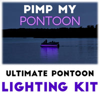 Pimp My Pontoon - Black Light Ultraviolet (UV) LED Under Deck Lighting DIY Kit - 30,000 Lumens - Includes Bonus Red & Green Navigation Lights Pimp My boat Green Blob Outdoors