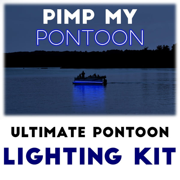 Pimp My Pontoon - Blue LED Under Deck Lighting DIY Kit - 30,000 Lumens - Includes Bonus Red & Green Navigation Lights Pimp My Boat Green Blob Outdoors