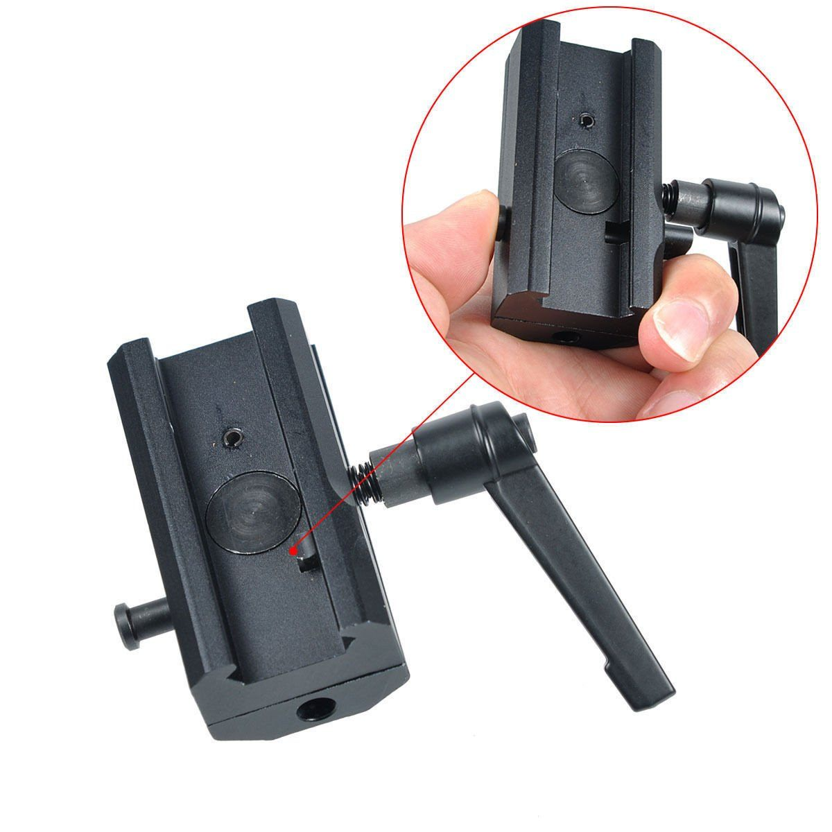 Rotating Quick Detachable Bipod Adapter for Picatinny Rails Bipods & Monopods Unbranded