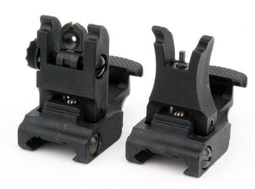 Tactical Folding Front and Rear Set Flip Up Backup Sights BUIS 223 5.56 fit Sights Generic