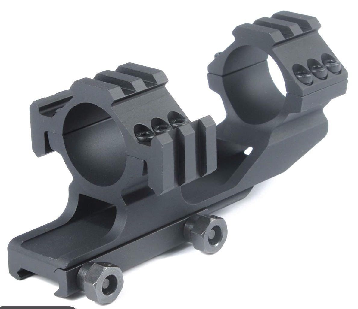 Tr-Side Rails 30mm Dual Scope Rings Cantilever Ring Scope Mount PEPR Black Scope Mounts & Accessories unbranded