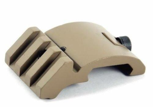 Ultra Low Profile Offset Picatinny Rail Mount 45 Degree 20mm Side FDE DE Dark Earth rails Fast Dealz