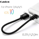 0.25/1/2/3m USB Cable For Apple iPhone7 8 Pin micro usb cable Charger Data Charg