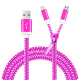 2 in 1 Muti USB Data Charger Cable Wire Metal Plug Micro USB Cable for iPhone 7
