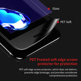 Baseus Premium Screen Protector Tempered Glass For iPhone 7 3D Frosted Soft Protection Full Cover Glass Film For iPhone 7 Plus