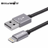 BlitzWolf Real New MFI Certified 3.33ft/1m Braided Charger USB Data Cable For iPhone 6 6S 6 Plus 6s Plus 5 5S  5C USB Cables