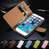 Case For iPhone 6 6S / 6S Plus Wallet Flip Style Luxury PU Leather Cover With Ca